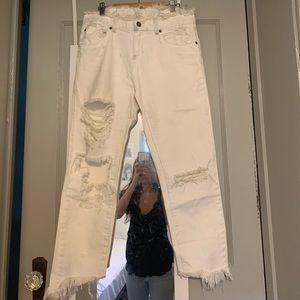 Carmar white ripped jeans